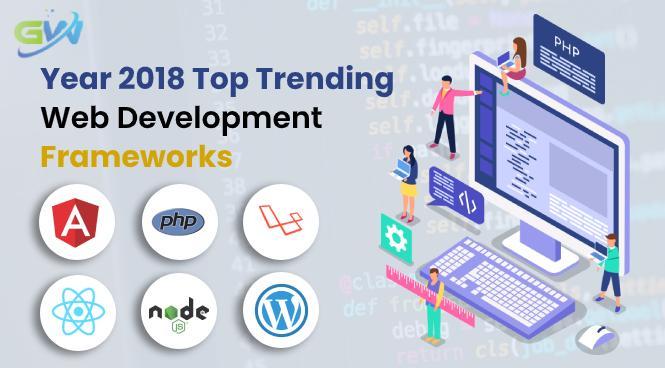 Year 2018 Top trending web development frameworks